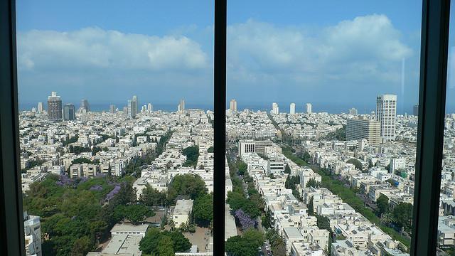 テルアビブの白い都市の絶景画像