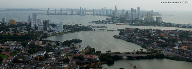 カルタヘナの港の遠景