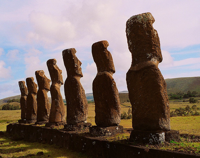 世界遺産 ラパ・ヌイ国立公園の画像 ラパ・ヌイ国... ラパ・ヌイ国立公園の絶景写真画像 チリの