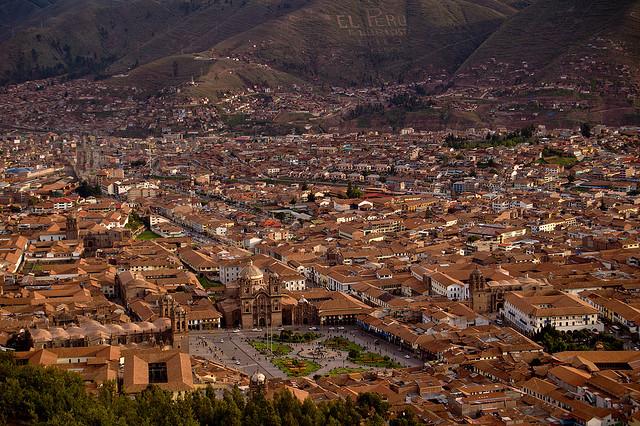 クスコ市街の絶景写真画像 ペルーの世界遺産